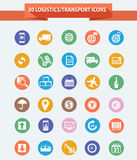 Logistics icons,Colorful version. Concept stock illustration