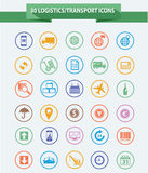 Logistics icons,Colorful version Royalty Free Stock Photo