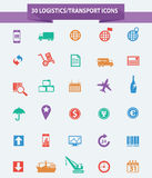 Logistics icons,Colorful version. On white background Stock Images