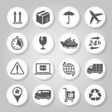 Logistics icons Stock Images