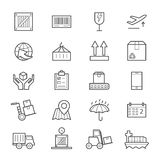 Logistics Icons Line Royalty Free Stock Images