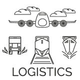 Logistics icons Royalty Free Stock Images