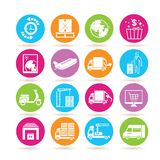 Logistics icons Royalty Free Stock Photos