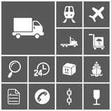 Logistics icons Royalty Free Stock Photography