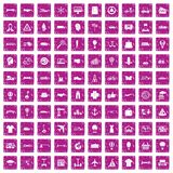 100 logistics icons set grunge pink. 100 logistics icons set in grunge style pink color isolated on white background vector illustration royalty free illustration