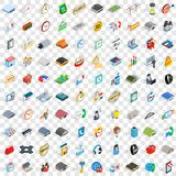 100 logistics icons set, isometric 3d style Royalty Free Stock Images