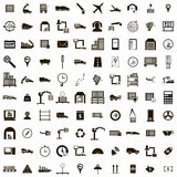100 Logistics icons set, simple style Stock Photography