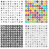 100 logistics icons set variant. 100 logistics icons set in 4 variant for any web design isolated on white stock illustration