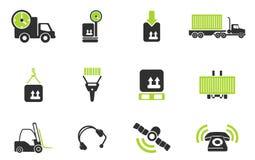 Logistics icons Royalty Free Stock Image