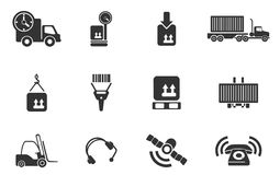 Logistics icons Stock Photography