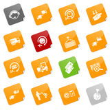 Logistics icons - sticky series. Set of 16 different logistics icons, sticky series Stock Image