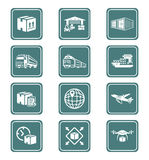 Logistics icons | TEAL series Royalty Free Stock Image