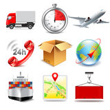 Logistics icons vector set Royalty Free Stock Image