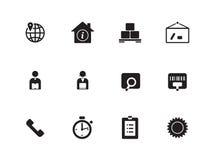 Logistics icons on white background. Vector illustration stock illustration
