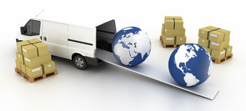 Logistics industry concepts Royalty Free Stock Photos