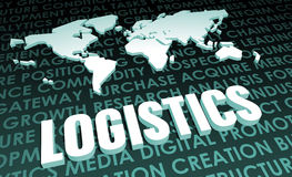 Logistics. Industry Global Standard on 3D Map stock illustration