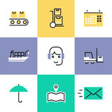 Logistics industry services pictogram icons set Stock Photography