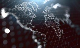 Logistics and international shipments. Company communication around the world. Big data management.3d illustration stock images