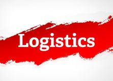 Logistics Red Brush Abstract Background Illustration vector illustration