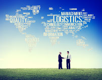 Logistics Management Freight Service Production Concept Royalty Free Stock Photos