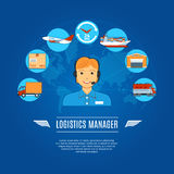 Logistics Manager Concept Icons Royalty Free Stock Photography