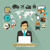 Logistics Manager. Freelance infographic. Stock Images