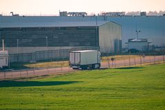 Logistics park hub royalty free stock photography