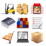 Logistics part two icons vector set Stock Image