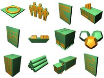 Logistics Process Icons For Supply Chain Diagram  Royalty Free Stock Image