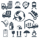Logistics Related Icons Royalty Free Stock Photo