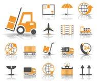 Logistics & Sales - Iconset - Icons stock illustration