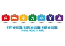 Logistics services around the world design concept Stock Photos