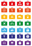 Logistics services colored icons set Stock Photo
