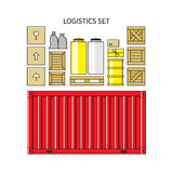 Logistics set Royalty Free Stock Image