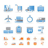Logistics, Shipping And Transportation Icons Stock Image