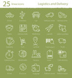 Logistics, shipping and delivery icons set Stock Photo