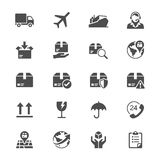 Logistics and shipping flat icons Stock Photos