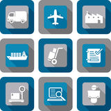 Logistics Shipping Icon Design set. Logistics and Shipping related Shadow icon design set Royalty Free Stock Photo