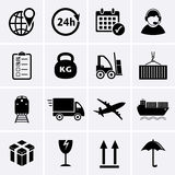 Logistics and Shipping icon Royalty Free Stock Photos