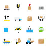 Logistics and Shipping Icons. Set of Business, Finance Vector Illustration Color Icons Flat Style. This is graphics vector Illustration. Ready to use for Stock Images