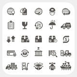 Logistics and Shipping icons set Royalty Free Stock Photos