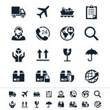 Logistics and shipping icons Stock Photos