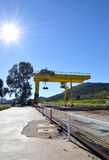 Logistics station under the sun Royalty Free Stock Photo