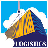 Logistics. Stylized illustration on logistics and freight transport. may be used in advertising, as an illustration, sign, etc Royalty Free Stock Photo