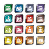 Logistics and Transport Icons Royalty Free Stock Images