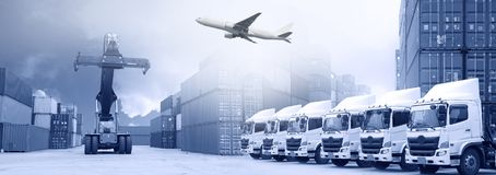Logistics transportation background.