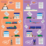 Logistics and transportation concept flat illustration. Stock Image