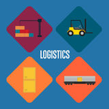 Logistics and transportation icon set Stock Photography