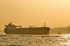 Logistics and transportation of International Container Cargo ship. Freight Transportation, Shipping. Stock Photography