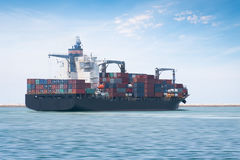 Logistics and transportation of International Container Cargo ship Royalty Free Stock Images